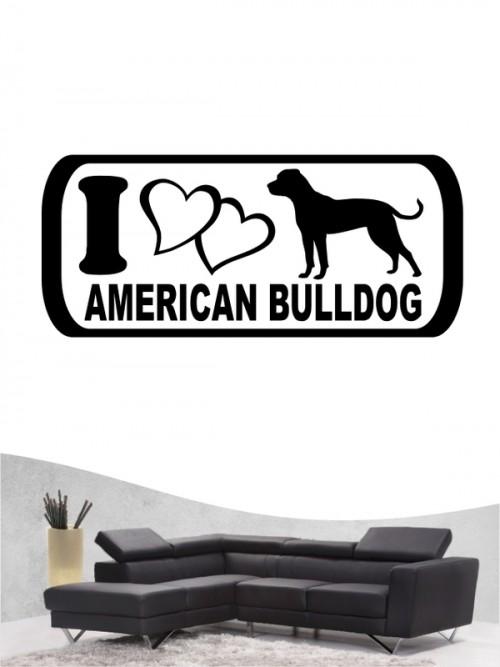 American Bulldog 6 Wandtattoo