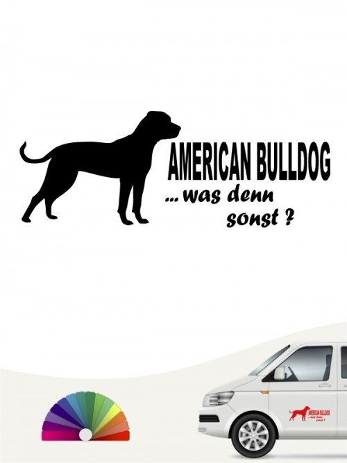 American Bulldog was denn sonst Hundeaufkleber anfalas.de