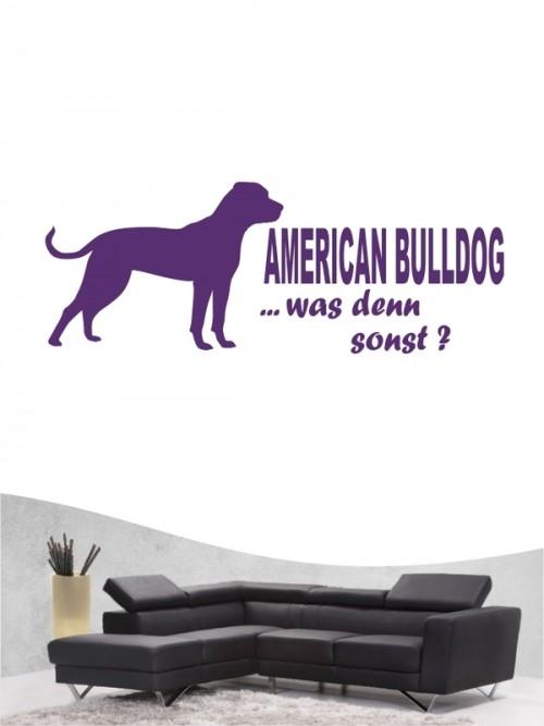 American Bulldog 7 Wandtattoo