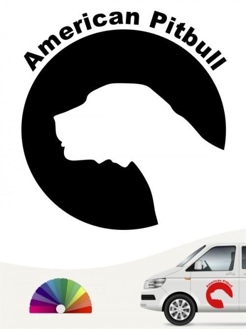 American Pitbull Hundeaufkleber von anfalas.de