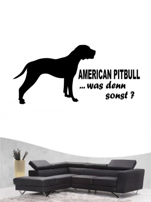 American Pitbull 7 Wandtattoo