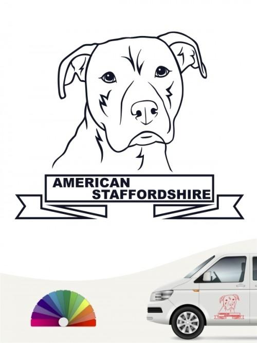 Hunde-Autoaufkleber American Staffordshire 16 von Anfalas.de