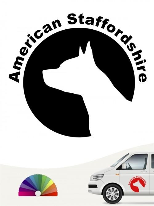 American Staffordshire Hundeaufkleber von anfalas.de