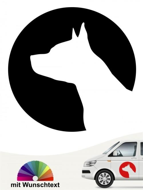 American Staffordshire Hundeaufkleber fürs Auto von anfalas.de