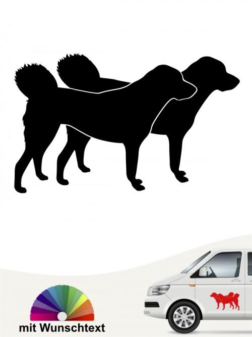 Anatolischer Hirtenhund doppel Silhouette mit Namen anfalas.de