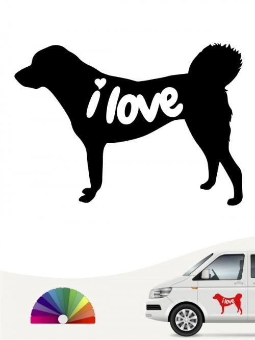Anatolischer Hirtenhund i love Aufkleber anfalas.de
