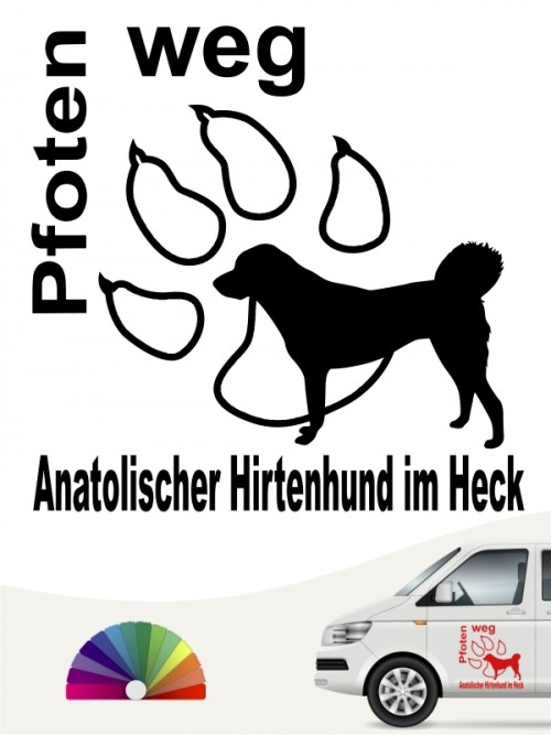 Pfoten weg Anatolischer Hirtenhund im Heck Aufkleber anfalas.de