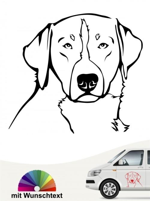 Appenzeller Sennenhund Kopf mit Namen anfalas.de