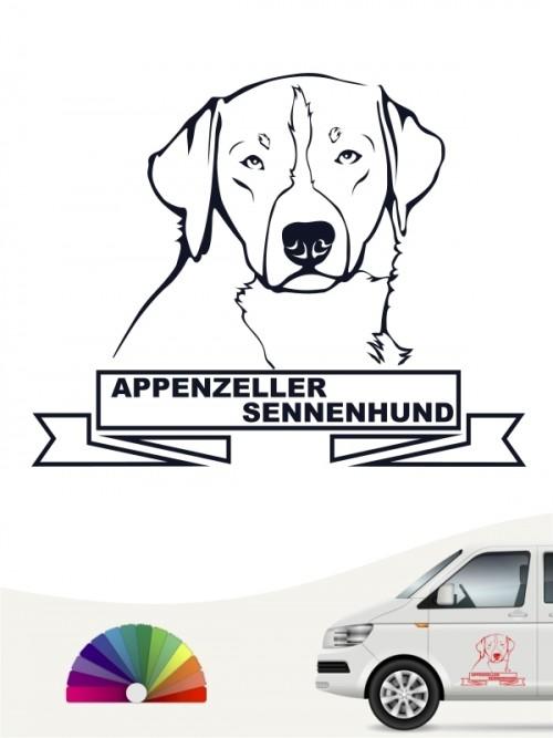 Hunde-Autoaufkleber Appenzeller Sennenhund 15 von Anfalas.de