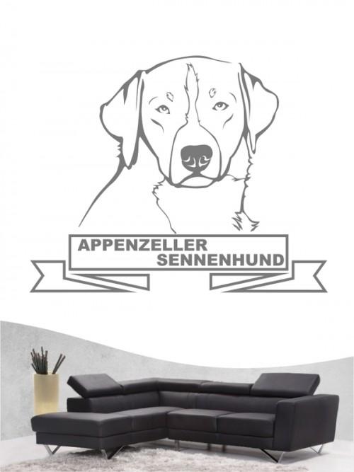Hunde-Wandtattoo Appenzeller Sennenhund 15 von Anfalas.de