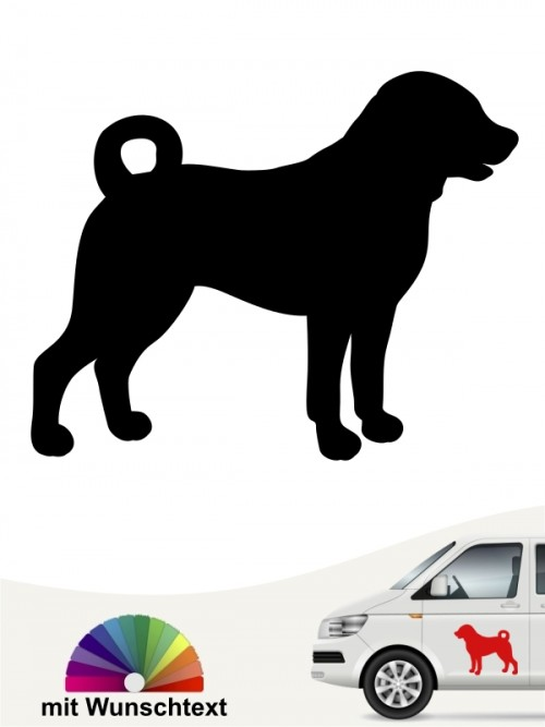 Appenzeller Sennenhund Aufkleber anfalas.de