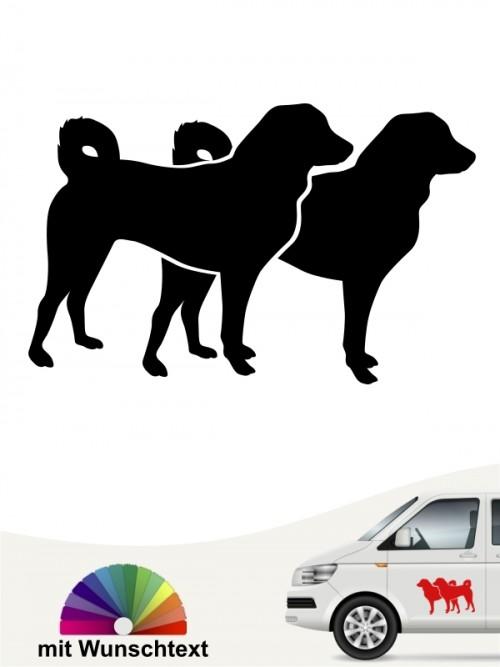 Appenzeller Sennenhund doppelte Silhouette mit Wunschtext anfalas.de