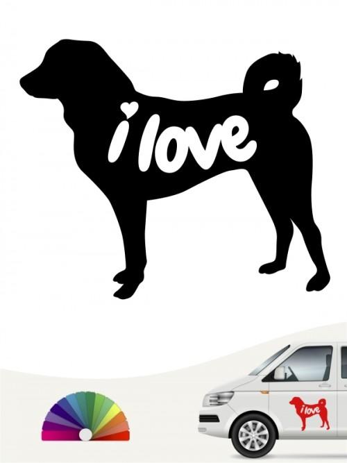 Appenzeller Sennenhund i love Aufkleber anfalas.de