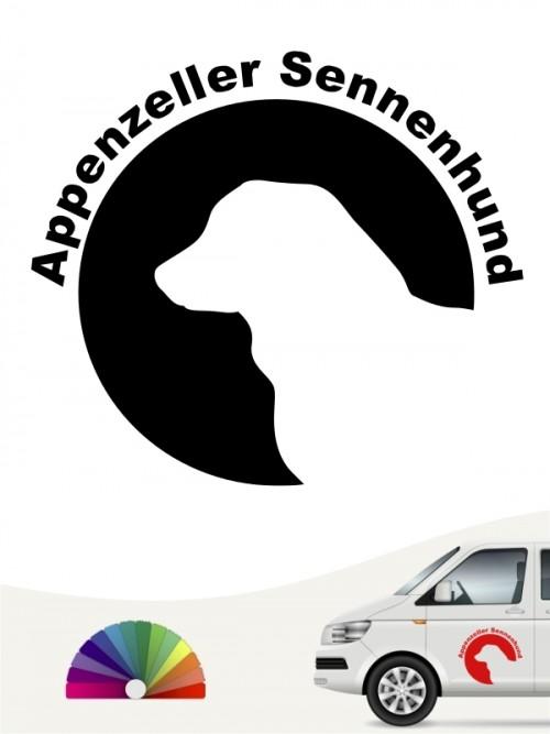 Appenzeller Sennenhund Hundeaufkleber von anfalas.de
