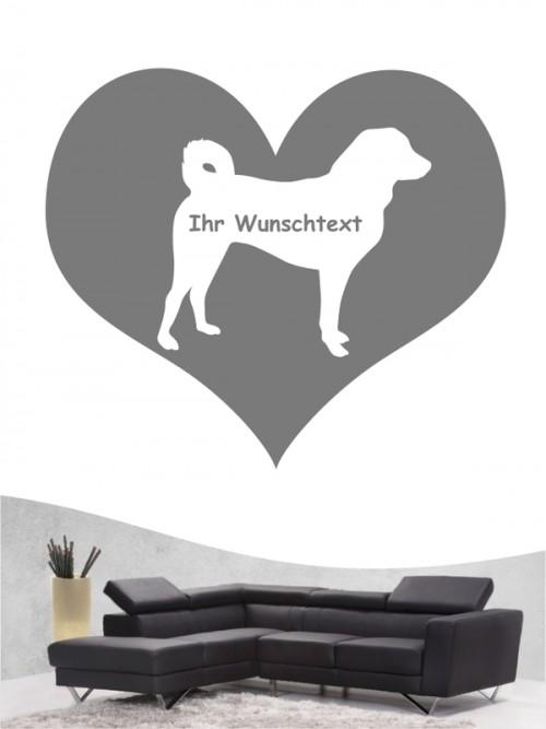 Appenzeller Sennenhund 4 Wandtattoo