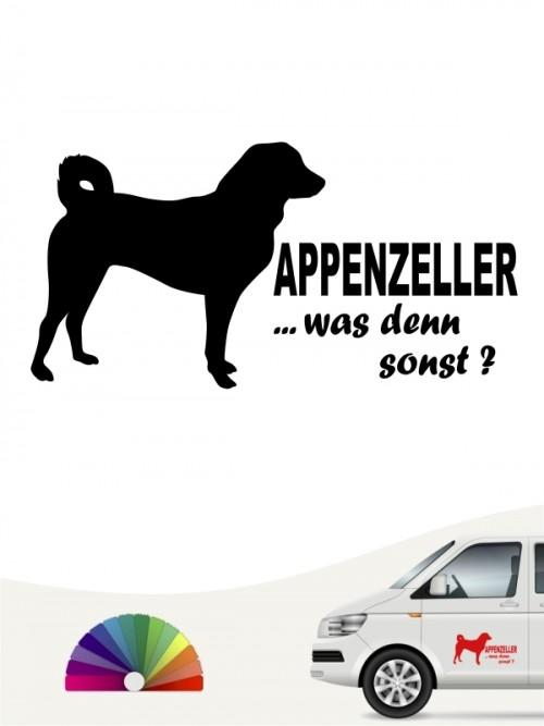 Appenzeller Sennenhund was denn sonst Sticker anfalas.de