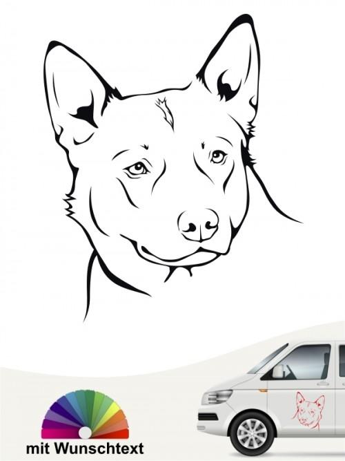 Australian Cattle Dog Kopf Aufkleber anfalas.de