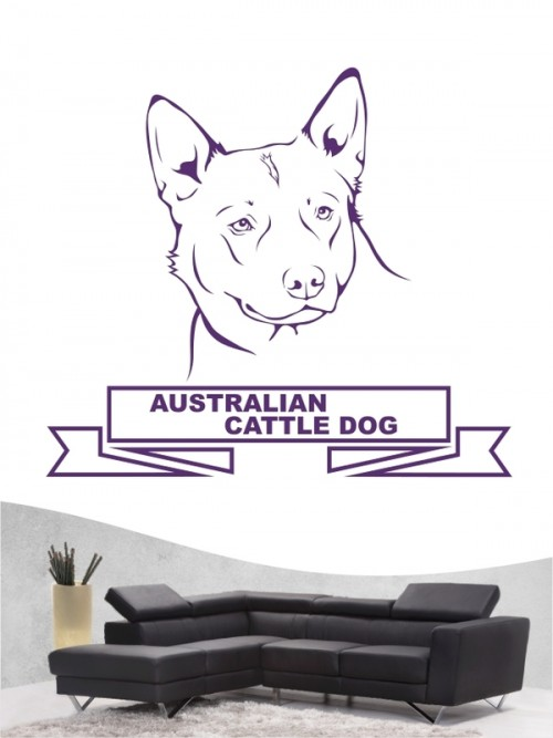 Hunde-Wandtattoo Australian Cattle Dog 15 von Anfalas.de