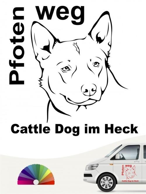 Pfoten weg Cattle Dog Aufkleber anfalas.de