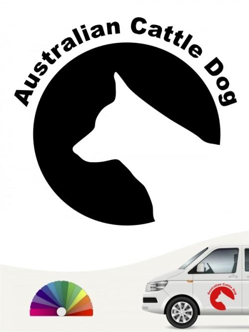 Australian Cattle Dog Autoaufkleber von anfalas.de