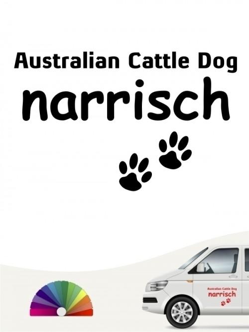 Hunde-Autoaufkleber Australian Cattle Dog narrisch von Anfalas.de