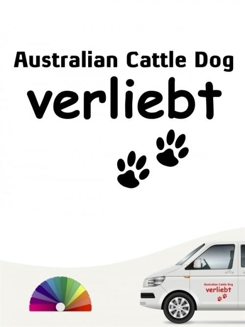 Hunde-Autoaufkleber Australian Cattle Dog verliebt von Anfalas.de