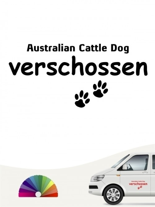 Hunde-Autoaufkleber Australian Cattle Dog verschossen von Anfalas.de