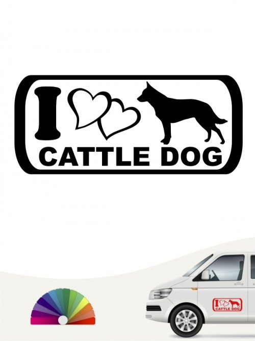 I Love Cattle Dog Hundeaufkleber anfalas.de
