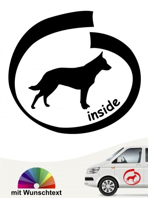 Cattle Dog inside Aufkleber mit Namen anfalas.de