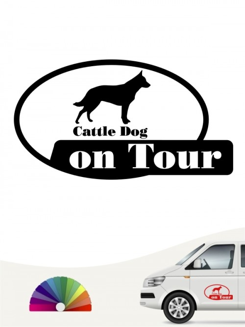 Cattle Dog on Tour Autosticker anfalas.de