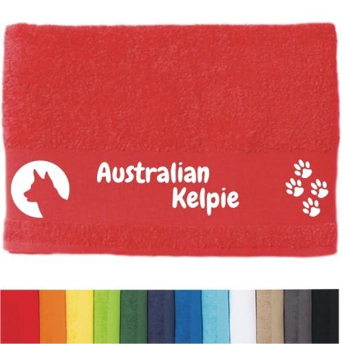 """DOG - Handtuch """"Australian Kelpie"""" von anfalas.de"""