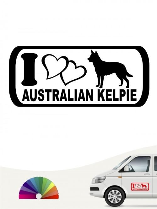 I Love Australian Kelpie Aufkleber anfalas.de