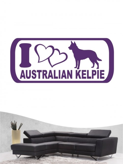 Australian Kelpie 6 - Wandtattoo
