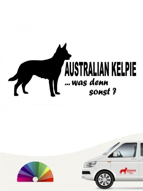 Was denn sonst Australian Kelpie Hundeaufkleber anfalas.de