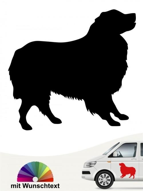 Australian Shepherd Aufkleber mit Wunschtext anfalas.de