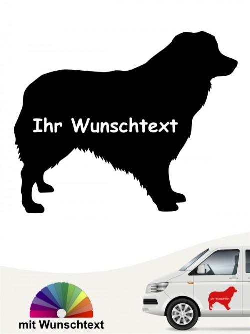 Australian Shepherd mit Wunschtext anfalas.de