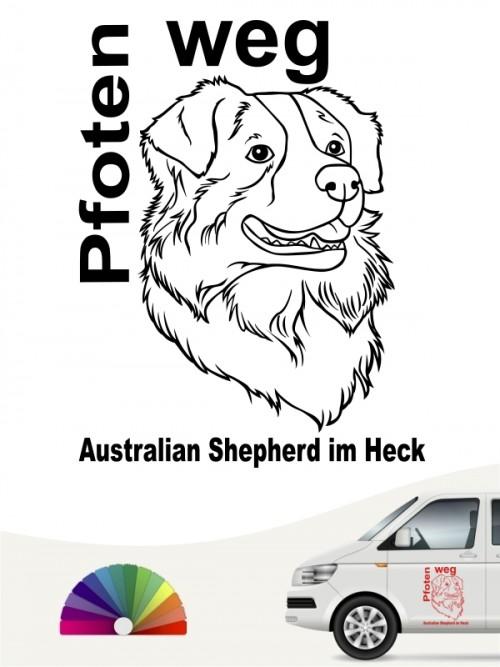 Australian Shepherd  Pfoten weg Aufkleber anfalas.de