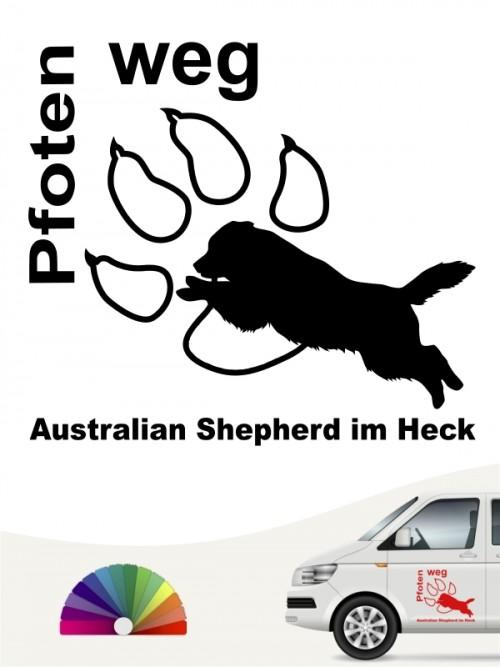 Australian Shepherd Pfoten weg Autosticker anfalas.de