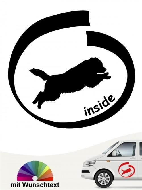 Australian Shepherd inside mit Wunschtext anfalas.de