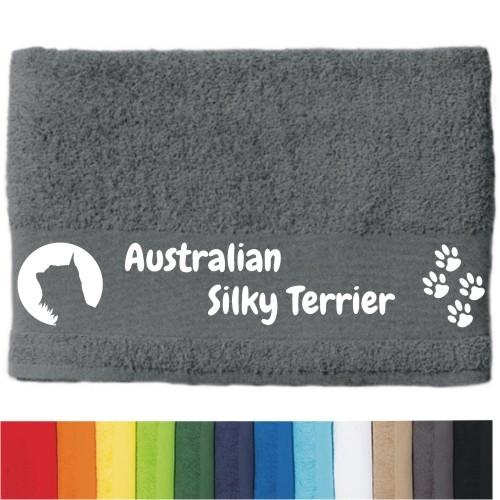 """DOG - Handtuch """"Australian Silky Terrier"""" von anfalas.de"""