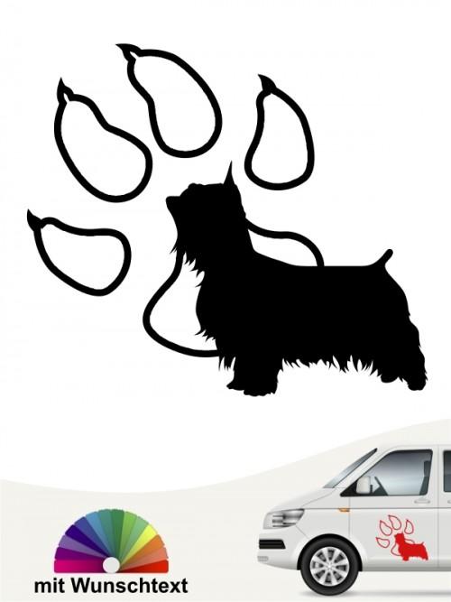 Australian Silky Terrier Autosticker mit Wunschtext anfalas.de