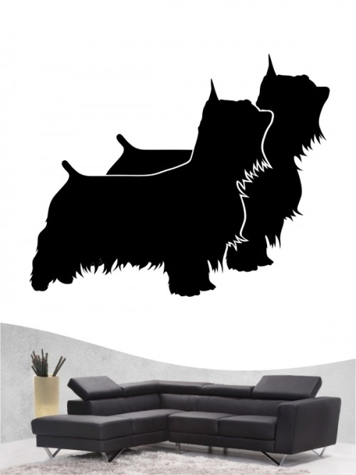 Australian Silky Terrier 2 - Wandtattoo