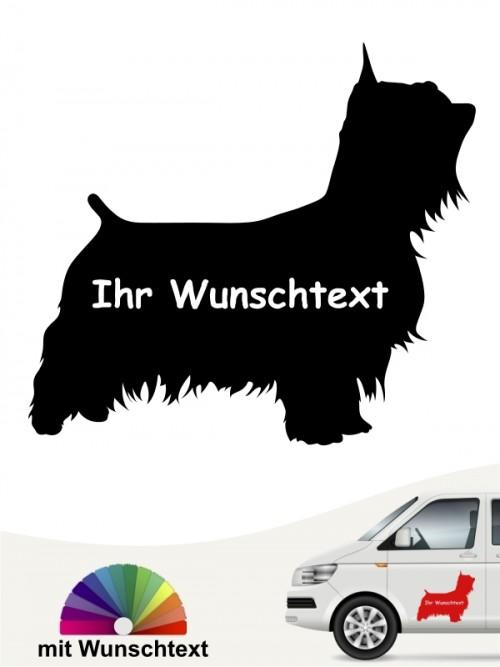 Australian Silky Terrier Silhouette mit Wunschtext anfalas.de