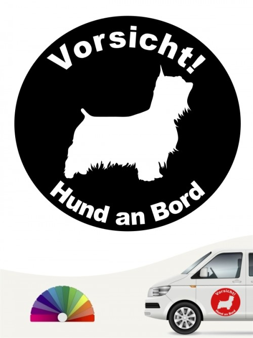 Australian Silky Terrier Hund an Bord Aufkleber anfalas.de