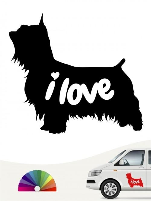 Australian Silky Terrier i love Aufkleber anfalas.de