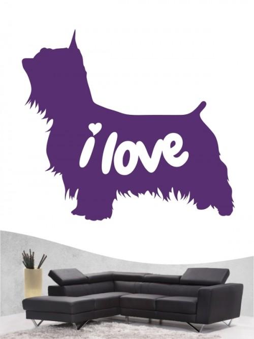 Australian Silky Terrier 43 - Wandtattoo