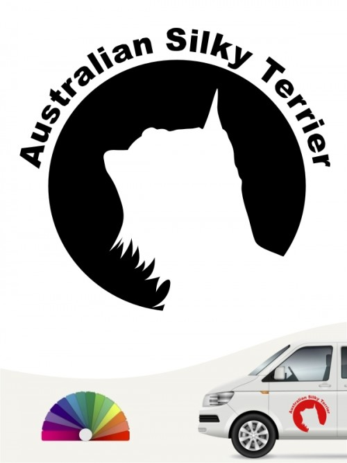 Australian Silky Terrier Hundeaufkleber von anfalas.de