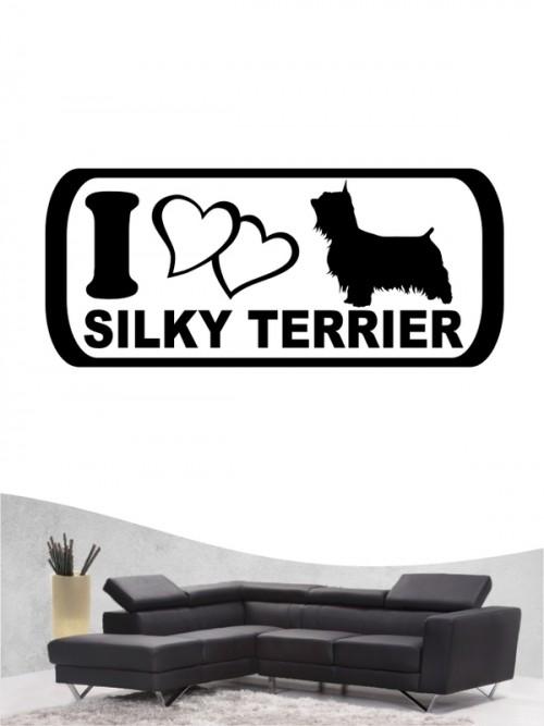 Australian Silky Terrier 6 - Wandtattoo