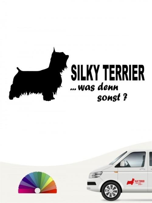 Silky Terrier was denn sonst Autoaufkleber anfalas.de