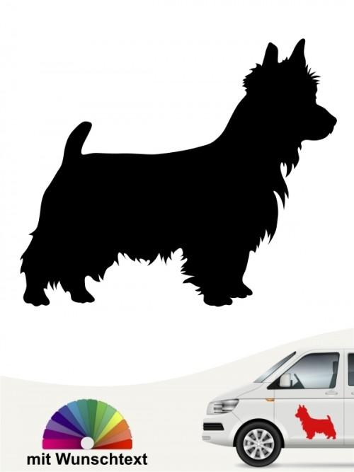Australian Terrier Autoaufkleber mit Wunschtext anfalas.de
